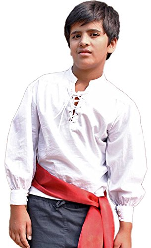 ThePirateDressing Pirate Medieval Renaissance Kids Shirt Costume C1238 [Large]