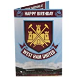 1 X West Ham United FC Official Birthday Musical Sound Card Plays Music When Open New