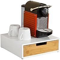 SoBuy Portacapsule nespresso Capsule e Porta cialde Porta Macchina da caffè L30*P31*A9 cm FRG179-WN