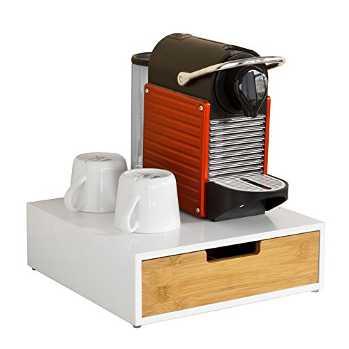 SoBuy FRG179-WN,porta capsule caffè, porta per macchina da caffè,Supporto per Monitor,...