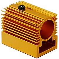 Q-BAIHE Radiador de aluminio radiante 20x27x32mm para 12mm Laser Module Golden