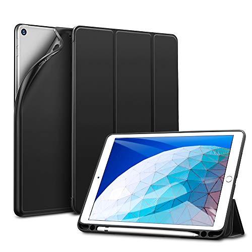 ESR Hülle kompatibel mit iPad Air 3 2019 10.5 Zoll - Ultra Dünnes Smart Case mit Stifthalter - Auto Schlaf-/Aufwachfunktion - Kratzfeste Schutzhülle für iPad 10.5