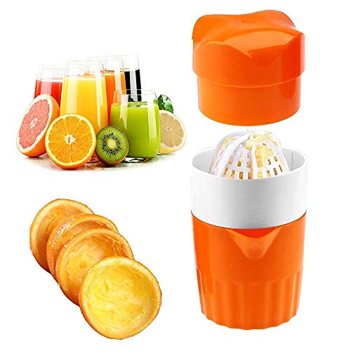 Kardu.C Presse Agrume Manuel - Presse Fruit Manuel,Kitchen Manual Juicer, Fresh Juice Every Day, Easy to Carry and Easy to Use, 9.5 9.5 17cm