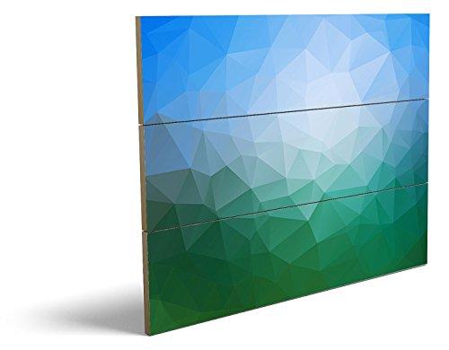 Abstrakt, qualitatives MDF-Holzbild im Drei-Brett-Design mit hochwertigem und ökologischem UV-Druck Format: 80x60cm, hervorragend als Wanddekoration für Ihr Büro oder Zimmer, ein Hingucker, kein Leinwand-Bild oder Gemälde