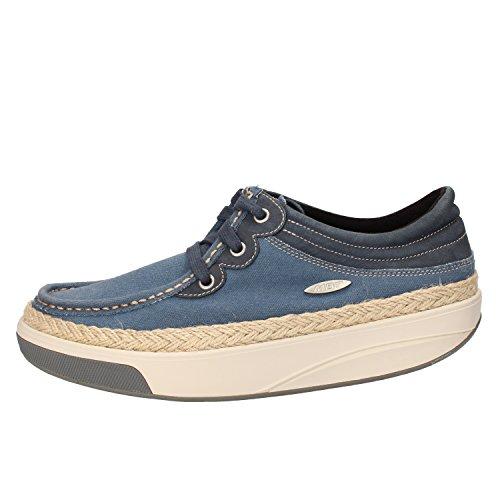 MBT Sneakers Donna Tessuto Pelle Blu