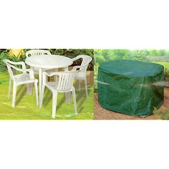 Housse pour salon de jardin rond 140x94cm gamme standard: Amazon.fr ...