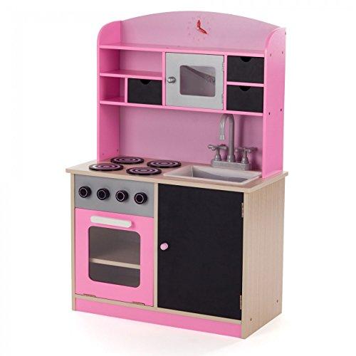 baby vivo kinderk che spielk che aus holz kinderspielk che. Black Bedroom Furniture Sets. Home Design Ideas