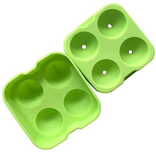 macht Form Eis Form Maker Ice Form Kugel Ice Cube Tabletts 4Grid Eis Form ICE Tabletts für Eiswürfel Silikon Grün 12,5* 12,5* X 4,8x 1pcs (Neuheit Wiederverwendbare Ice Cubes)