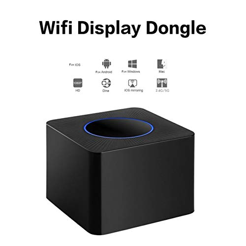 AV HDMI RJ45 2 4G 5G Wifi Display Dongle Q2 Wireless Screen Mirroring Adapter Color black