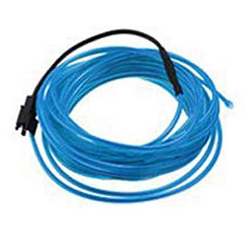 2M Neon-LED-Streifen-Licht, flexibles Neon-LED-EL-Drahtkabel Glow String Light Tube mit DC12V-Treiber für Dekoration Blau