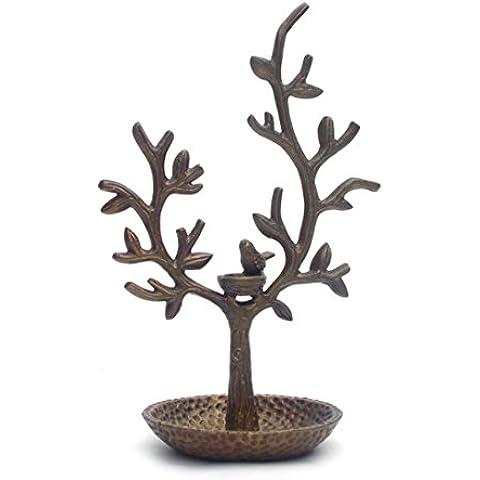 Nido di uccello e albero porta gioielli e supporto gioielli Display Stand, oraganiser - Braccialetto Jewelry Display Stand