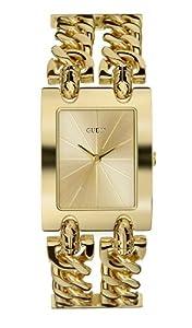 Guess Heavy Metal 90176L1 - Reloj de mujer de cuarzo, correa de acero inoxidable color oro de GUESS