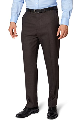 ermenegildo-zegna-cloth-mens-regular-fit-brown-sharkskin-suit-trousers-38r