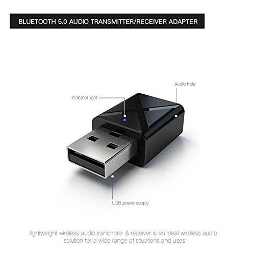 Adattatore per dongle USB Bluetooth 5.0, Ricevitore per trasmettitori Bluetooth Supporta PC Windows Vista XP 32/64 Bit per Altoparlanti Bluetooth, Cuffie
