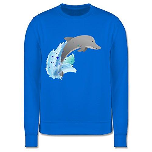 Tiermotive Kind - Kleiner Delfin - 5-6 Jahre (116) - Himmelblau - JH030K - Kinder Pullover (Sweatshirt Dolphin Crewneck)