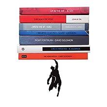 ARTORI Design Supershelf | Libreria fluttuante supereroe in metallo nero| Nascosto | Scaffale nascosto | Scaffali per libri originale| Regali per fan| Regali per gli amanti dei libri | Figo fermalibri