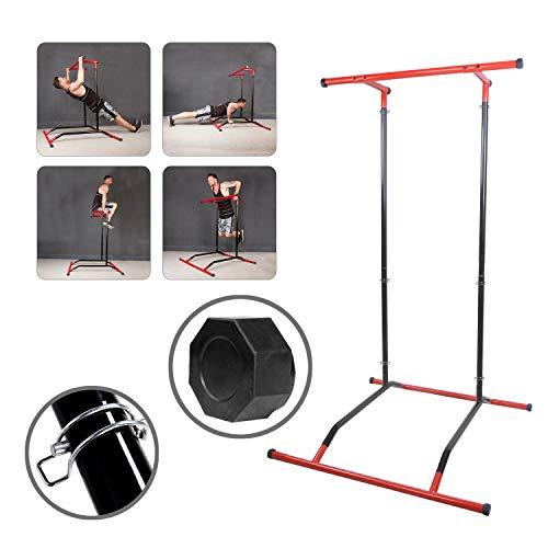 Cclife trazioni alla sbarra & pull up,macchine per sollevare,muscolo dorsale,rotondo e bicipite brachiale, colore:nero & rosso