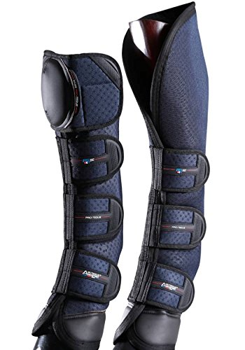 Premier Equine Knee Pro-Teque Airtechnology Horse Travel Boots Transportgamaschen Farbe Navy, Größe L