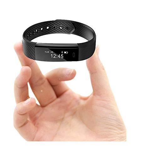 Renfengchui Pulsera De Banda Inteligente Contador De Pasos Fitness Banda Inteligente Reloj Despertador Vibración Muñeca En Forma De Reloj Corazon A