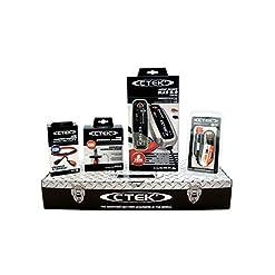 CTEK MXS 5.0 (56-305) Toolbox Set Caricabatteria, 12 V-5A, con Accessori di Connessione