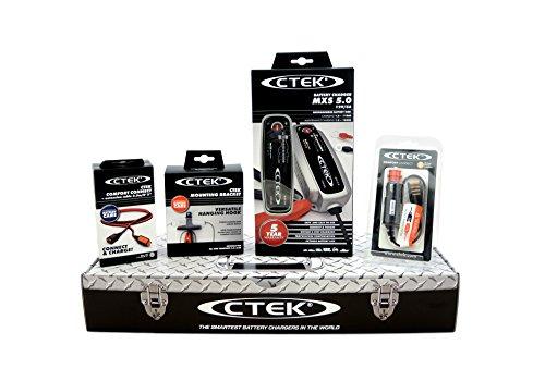 CTEK MXS5.0 (56-305) Toolbox Set - Cargador de batería con accesorios