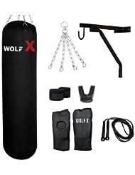 5ft Heavy 40-45 KG Fillled Punch Bag Boxing /MMA/kick/ (8 Pcs Set Black)