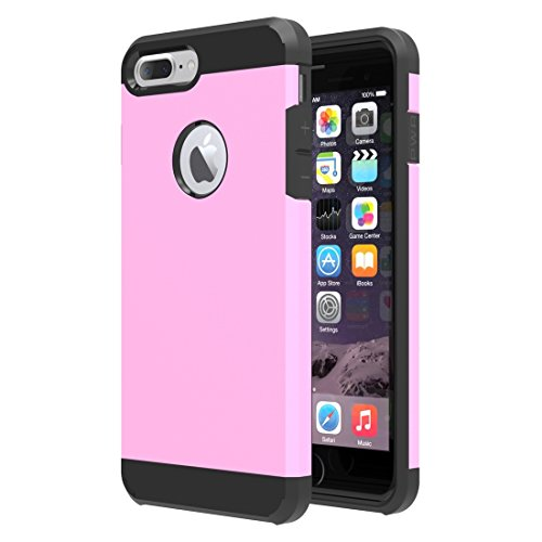 Easy Go Shopping Trennbare Mieder-TPU + PC Kombinations-Fall, Kleine Menge Empfohlen vor iPhone 7 Plus, Das für iPhone 7 Plus startet (Color : Pink) (Taste Mieder)