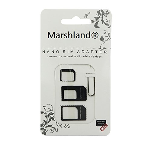 Marshland® Nano Sim Card Adapter Nano to Micro - With eject pin Silver Color Ultra-thin design, the thickness only 0.1mm  available at amazon for Rs.95