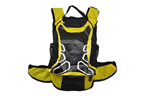 West Biking, Outdoor, Wandern Bergsteigen, Klettern Fahrrad Rucksack Daypacks Tasche, 12 L, atmungsaktiv, für unterwegs, erhältlich in 6 Verschiedenen Farben Gelb - gelb