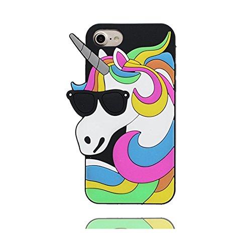 """Case iPhone 7 Plus Coque, TPU Material Flexible Étui iPhone 7 Plus Cover 5.5"""", Preuve de choc [ 3D Cartoon chat ] - Pretty Soft Rose # 2"""