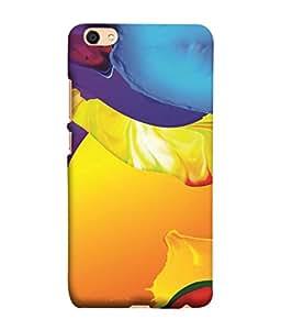 PrintVisa Colorful Designer Wallpaper 3D Hard Polycarbonate Designer Back Case Cover for Vivo V5Max