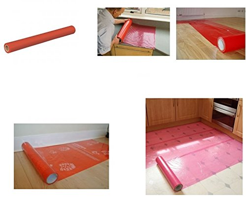 25m-x-600mm-red-roll-laminate-hard-floor-tile-worktop-surface-protector-polythene-self-adhesive-film