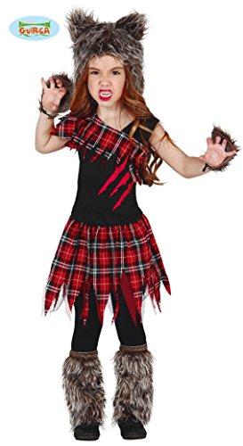Tier Wald Kostüme Halloween (Schottisches Wolf Kostüm für Mädchen Gr. 98-146,)