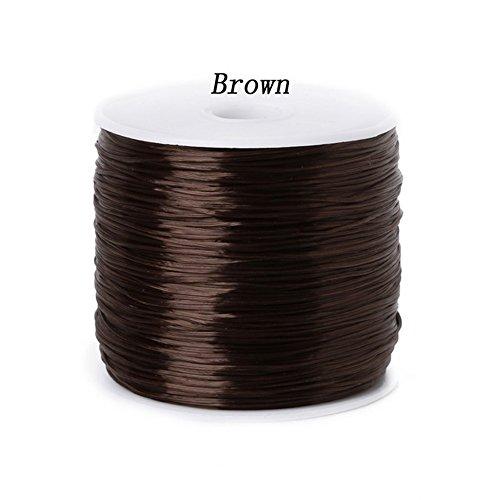 Colorful dehnbar elastische Schnüre Crystal String Draht für Schmuckherstellung aufreihmaterialien Armband Draht Angeln Gewinde Seil DIY braun ()