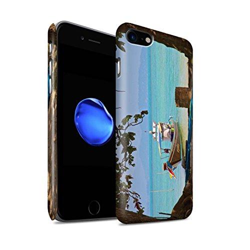 STUFF4 Matte Snap-On Hülle / Case für Apple iPhone 8 / Feuerwerk Muster / Thailand Landschaft Kollektion Boot/Strand