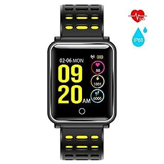 AURSEN Fitness Armband mit Pulsmesser,Wasserdicht IP68 Schwimmen Fitness Tracker mit Schrittzähler Schlafmonitor, usw