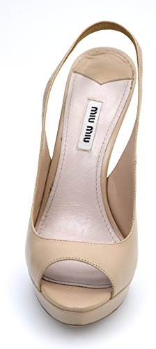 DECOLTE CIPRIA POWDER 5XP353 CIPRIA MIU ART MIU PUNTA APERTO PELLE SCARPA IN DONNA q1nEwAC