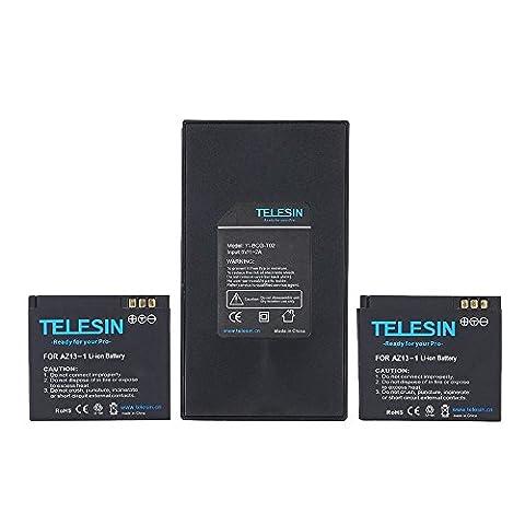 TELESIN® Dual Charger + Battery Pack 2pcs 3.7V 1010mAh Li-ion