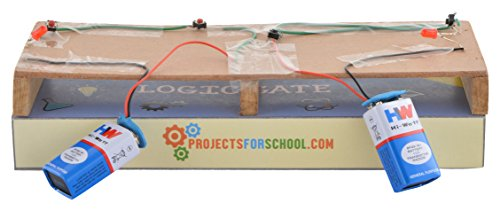 ProjectsforSchool Logic Gates Kit School Science Project Working Model, DIY Kit, Science Game (Multicolored)