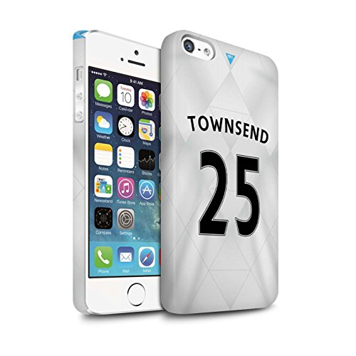 Offiziell Newcastle United FC Hülle / Matte Snap-On Case für Apple iPhone 5/5S / Pack 29pcs Muster / NUFC Trikot Away 15/16 Kollektion Townsend