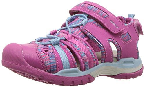 Geox Mädchen J Borealis Girl A Geschlossene Sandalen, Pink (Fuchsia/Sky), 31 EU