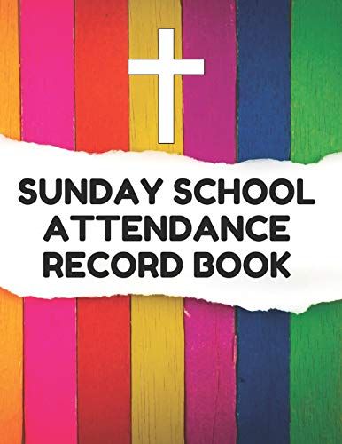 ance Record Book: Attendance Chart Register for Sunday School Classes, Striped Cover ()