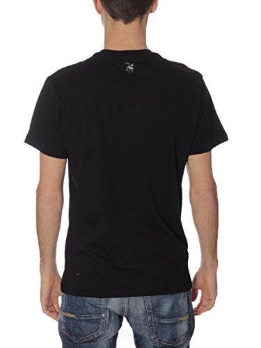 Playboy Herren T-Shirt T-shirt Print Mouth Nero