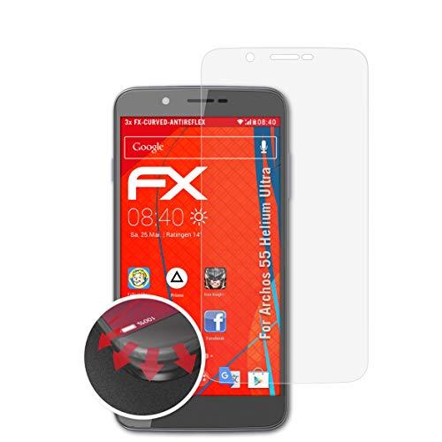atFolix Schutzfolie passend für Archos 55 Helium Ultra Folie, entspiegelnde & Flexible FX Bildschirmschutzfolie (3X)