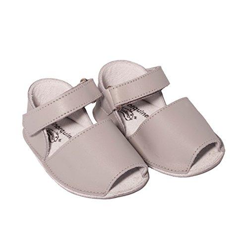 Minorquines - Sandales Frailera Baby Perla - Bébé Gris
