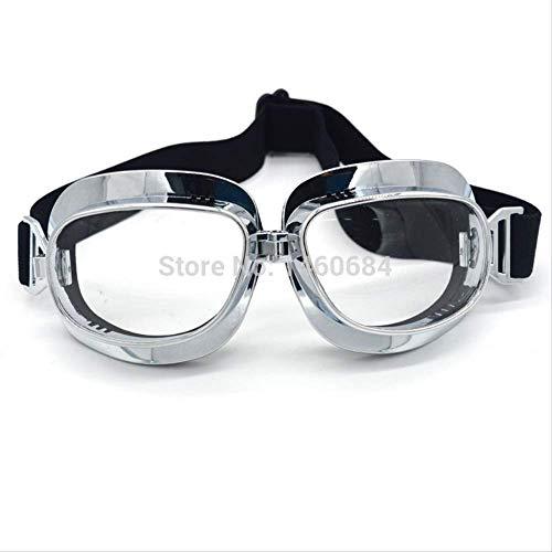 XYQY-Brille Retro-Motorradbrille Lunette Moto Aviateur Vintage GlassesModel 9