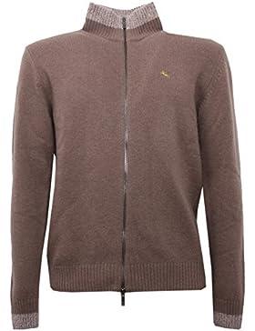 B5314 maglione uomo ETRO tortora cardigan wool sweater men