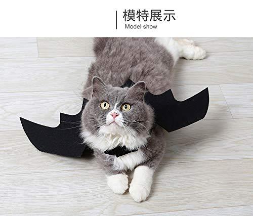 Morza 1Pcs Katze Fledermaus-Flügel Kostüm Black Dog Halloween-Party-Kostüm-Kleidung für Pet Supplies (Black Halloween-kostüm Dog)