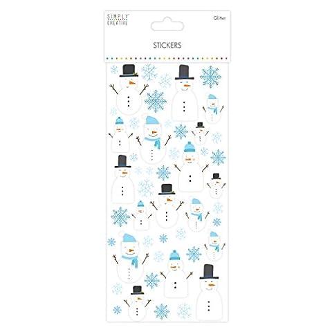 Simply Creative Christmas - Glitter Stickers - Snowmen