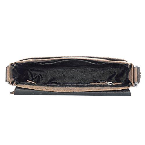 Chiemsee Valencia Vintage Messenger Tasche Leder 30 cm Tabletfach Dunkelbraun